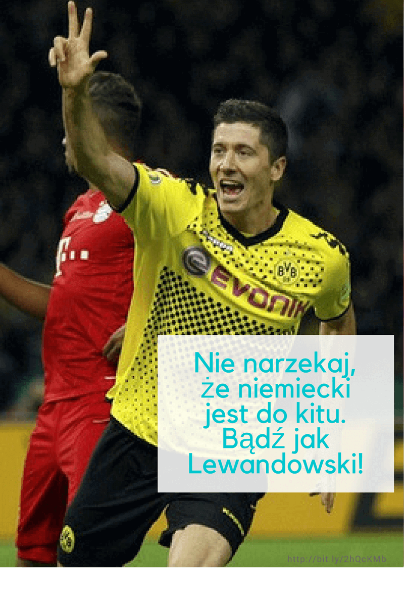 Robert Lewandowski mówi po niemiecku