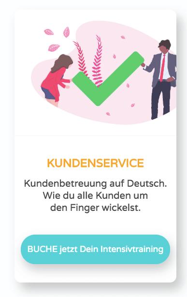 Kundenbetreuung auf Deutsch