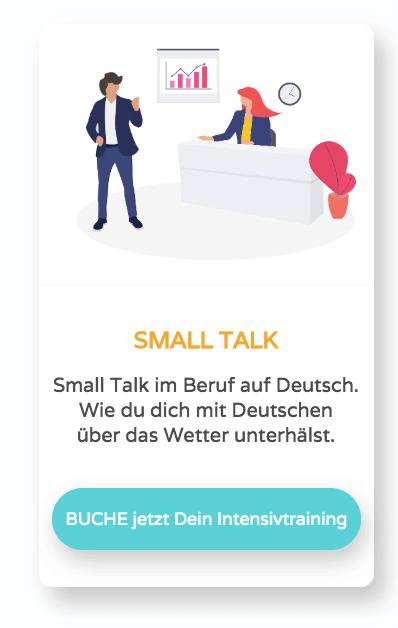 Unterhaltung auf dem Arbeitsplatz auf Deutsch
