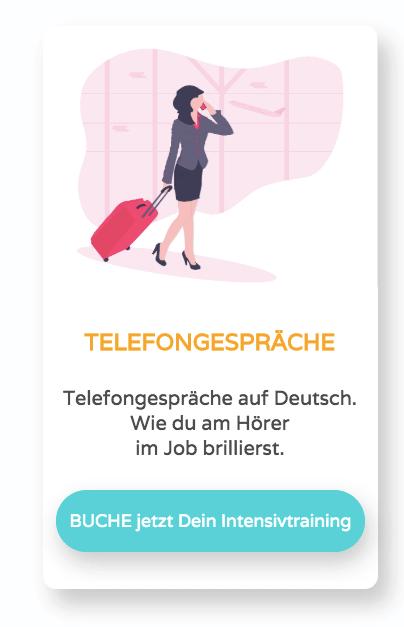 Telefongespräche auf dem Arbeitsplatz auf Deutsch