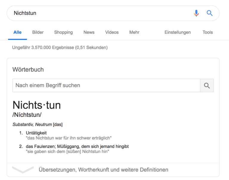 nic nie robic po niemiecku