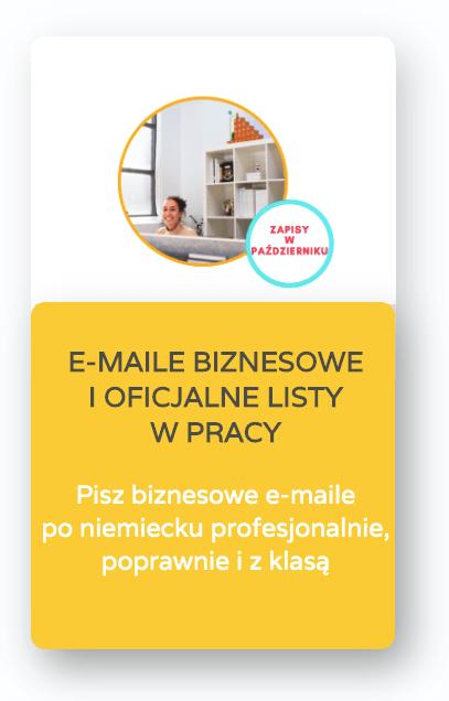 binzesowy niemiecki e-maile biznesowe i oficjalne listy w pracy
