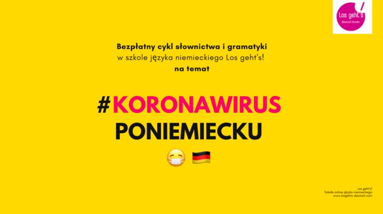 koronawirus po niemiecku slownictwo